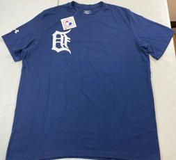 Under Armour Detroit Tigers Cotton Navy Blue Short Sleeve T-