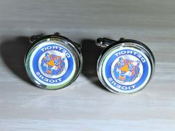 Detroit Tigers Cufflinks made from Baseball Cards, Recycled,