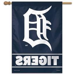 "DETROIT TIGERS ""D"" 28""X40"" BANNER FLAG BRAND NEW FREE SHIPPI"