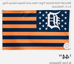 detroit tigers deluxe 3x5 flag and fan