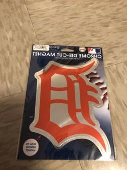 detroit tigers die cut logo magnet 8x6