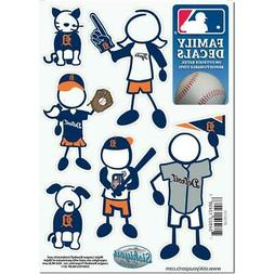 Detroit Tigers Family Decals 6 Pack  MLB Small Auto Car Stic