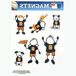 Detroit Tigers Family Magnet Set  Auto Car Stickers Emblems