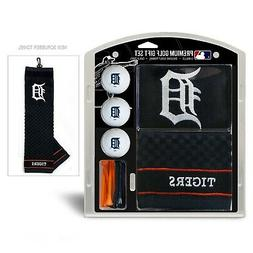 Detroit Tigers Golf Towel Set with Golf Balls and Tees