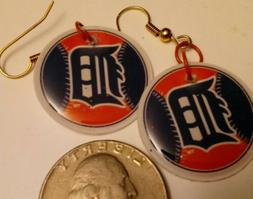 Detroit Tigers handmade earrings