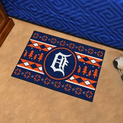 """Detroit Tigers Holiday Sweater Design 19"""" X 30"""" Starter Area"""