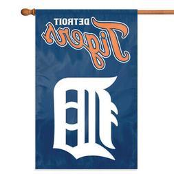 Detroit Tigers House Banner Flag PREMIUM Outdoor DOUBLE SIDE