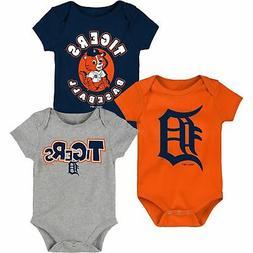 Detroit Tigers Infant Everyday Fan Three-Pack Bodysuit Set -