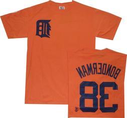 Detroit Tigers Jeremy Bonderman Orange Majestic T Shirt new