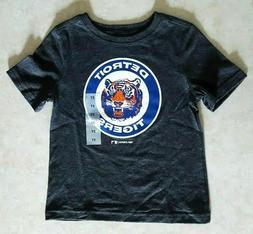 DETROIT TIGERS Kids T Shirt Size 3T Vintage Logo Gray Boys G