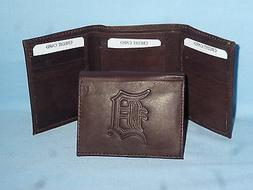 DETROIT TIGERS    Leather TriFold Wallet    NEW    dkbr 3  m