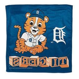 "Detroit Tigers Littlest Fan Burp Cloth 16""x16"" Polyester MLB"