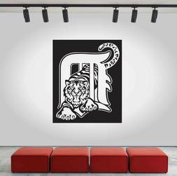 Detroit Tigers Logo Wall Decal MLB Sport Sticker Decor Black