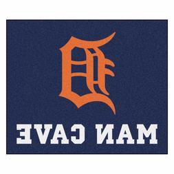 Detroit Tigers Man Cave 5' X 6' Tailgater Area Rug Floor Mat