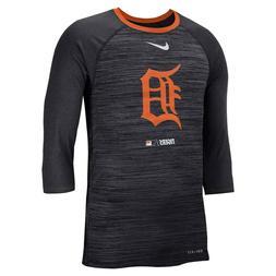Detroit Tigers Men's Nike 3/4 Sleeve Raglan Logo Tee - NWT -
