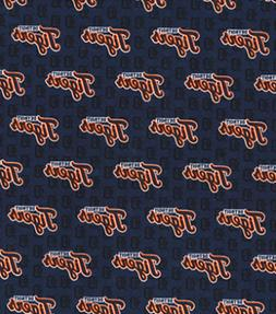 Detroit Tigers Mini Print on Navy MLB Baseball Sports Team C