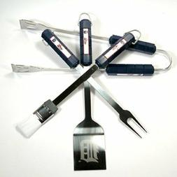 Detroit Tigers MLB 4-Piece BBQ Grilling Utensil Set