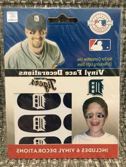 Detroit Tigers MLB 6 Pack Eye Black Strips Vinyl Face Decora
