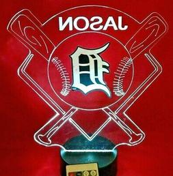 Detroit Tigers MLB Baseball Personalized FREE Light Up Illus