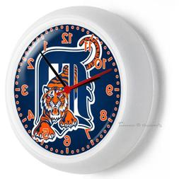DETROIT TIGERS MLB BASEBALL TEAM LOGO WALL CLOCK MAN CAVE LI