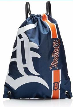 Detroit Tigers MLB Big Logo Side Stripe Drawstring Backpack