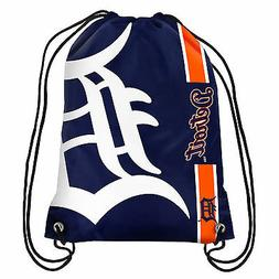 Detroit Tigers MLB Big Logo Side Stripe Drawstring Backpack