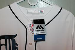 Detroit Tigers Majestic MLB Blank Back  Mens Game Jersey Whi