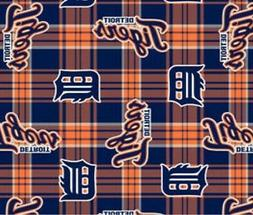 "Detroit Tigers MLB Fleece Fabric - 60"" Wide - Style# 6610"