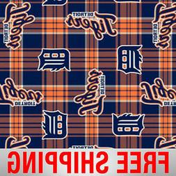 "Detroit Tigers MLB Fleece Fabric - 60"" Wide - Style# 6610 -"