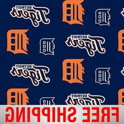 "Detroit Tigers MLB Fleece Fabric 60"" Wide - Style# 6665 - Fr"
