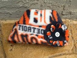 Detroit Tigers MLB Fleece Flower Hat - Sizes Newborn baby gi