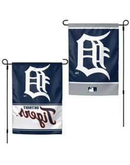 """Detroit Tigers MLB Garden Flag Double Sided Licensed 12"""" x 1"""