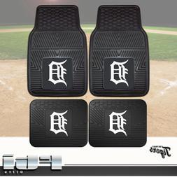 Detroit Tigers MLB Heavy Duty Vinyl 2-Pc & 4-Pc Floor Car Tr