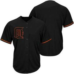 detroit tigers mlb mens black fashion jersey