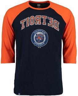Detroit Tigers MLB Mens Don't Judge 3/4 Sleeve Raglan Shirt