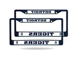 Detroit Tigers MLB Navy  Painted Chrome Metal License Plate