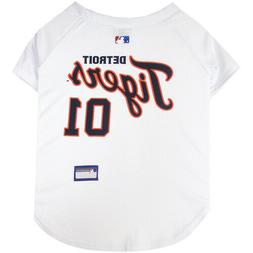 Detroit Tigers  MLB Officially Licensed Dog Pet White Jersey