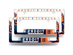 Detroit Tigers MLB  Chrome Metal License Plate Frames with B