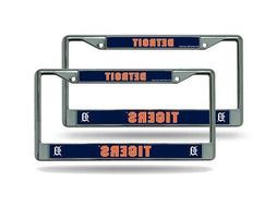 Detroit Tigers MLB  Chrome Metal License Plate Frames