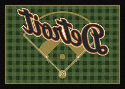 Detroit Tigers MLB Team Field Area Rug Milliken
