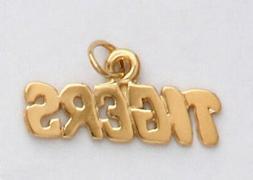 detroit tigers necklace pendant charm real 24k