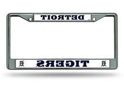 Detroit Tigers NEW DESIGN Chrome Frame Metal License Plate T