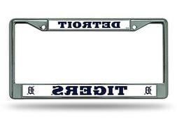 Detroit Tigers NEW DESIGN Metal Chrome License Plate Tag Fra