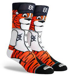 Detroit Tigers Paws The Tiger Mascot Stance Socks MLB Large