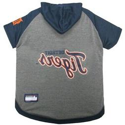 Detroit Tigers Pet Hoodie T-Shirt - Medium