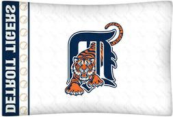 Detroit Tigers Pillow Case White MLB Baseball Pillowcase