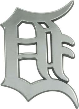 Detroit Tigers Premium Solid Metal Chrome Raised Auto Emblem