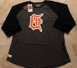 Detroit Tigers Raglan 3/4 Sleeve Cooperstown T-shirt Mitchel