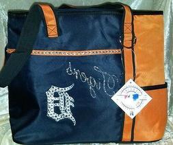 detroit tigers rhinestone blinged purse tote bag