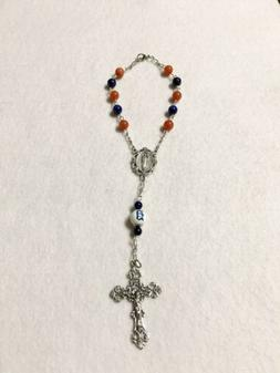 detroit tigers rosary ornament car auto rearview